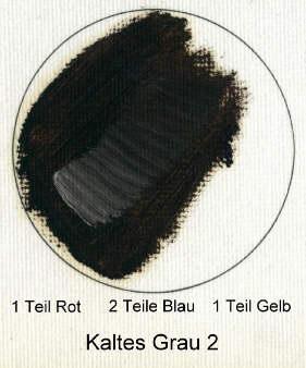 Нейтральный цвет 1 часть красного, 2 части синего и 1 часть жёлтого
